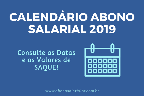 Calendário Abono Salarial 2019