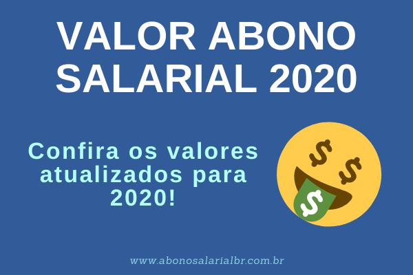 Valor Abono salarial 2020